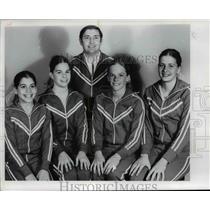1977 Press PhotoCheri DeLuca, Patty Ventura, Coach John Staciulus, Andrea Scully
