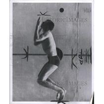 1957 Press Photo Cyril Hopkins (swimmer) - RRW31133
