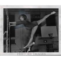 1971 Press Photo Kathy Sochor Kent State Gymnast - cvb41584