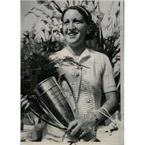 1937 Press Photo Senorita Anita Lizana Tennis National - RRW73845