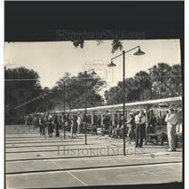 1941 Press Photo Mirror lake sports center people plays - RRX82029