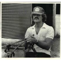 1980 Press Photo Gary Marangi former Cleveland Browns at Northfield Raceway