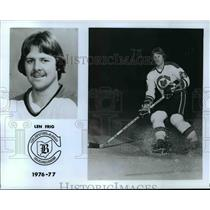 1976 Press Photo Len Frig Cleveland Barons 1976-77 Hockey - cvb54086
