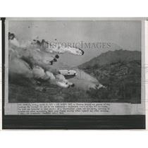 1964 Press Photo DC7 Airliner Safety Test Crash Phoenix - RRX84843