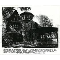 1987 Press Photo Mark Twain's Victorian mansion, Hartford, Connecticut.