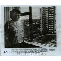 1989 Press Photo Clarendo Hill Towers in Somerville, Massachusetts - cvb24187