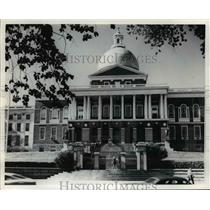 1977 Press Photo The 'Bulfinch Front' at the Boston Massachusetts State House