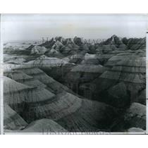 1988 Press Photo South Dakota Badland - cvb36912
