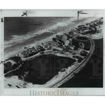 1976 Press Photo Aerial view of Cancun Mexico a resort on the Caribbean