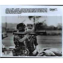 1989 Press Photo United States National Guard - cvb23036