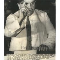1939 Press Photo John Lewis CIO leader speaking to group.