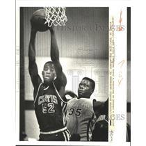 1939 Press Photo Basketball - Ron Bell of Curtis & Jason Smother of Destrehan's