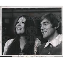 """1969 Press Photo Diana Rigg and Michael Jayston in """"A Midsummer Night's Dream""""."""