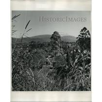 1958 Press Photo The View Above a Nigerian Village