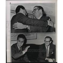 1962 Press Photo Ahmed Ben Bella embraced Cuban President Osvaldo Dorticos
