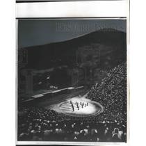 Press Photo Audience at outdoor theater, Epidaurus, Greece