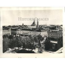 1934 Press Photo View of Szeged, Hungary located on the River Tisza - mjx43059