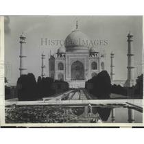 1929 Press Photo The Taj Mahal of India- most beautiful building in the world