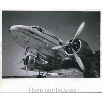 1965 Press Photo Old 728 DC-3 logged record hours in air of aviation history.