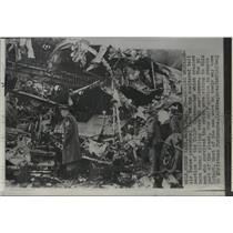1952 Press Photo Wreckage of Air Force C-124 Globemaster - spb09240