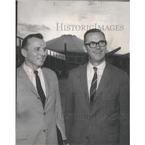 1965 Press Photo Michael J. Cafferty and H.F. Scheurer, terminal dedicaton