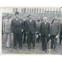 1933 Press Photo Chicago IL Louis Johnson, Mayor Kelly, IA Gov Herring
