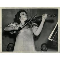 1937 Press Photo Daisy Kennedy Will Lead Orchestra