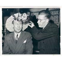 1941 Press Photo Detroit MI Actor Bert Lahr & Milliner Herschell Hart