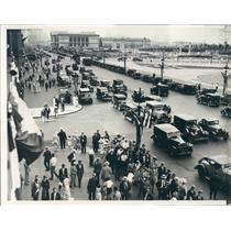 1932 Press Photo Chicago IL Michigan Blvd Crowded With Republican Conv