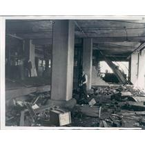 1934 Press Photo Chicago IL Explosion Damage at Central Cold Storage - ner35219