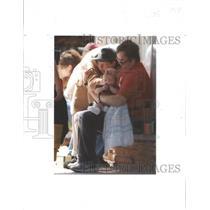 1995 Press Photo Chris Hoover Caresses Stephanie Dallas