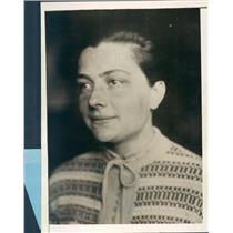 1929 Press Photo NYC Frieda Koehl Wife of German Aviator - ner43213