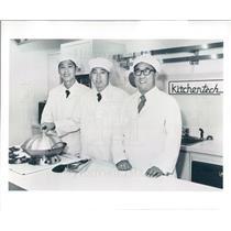 1980 Press Photo Chicago Peking China Chefs Yan Juangjie, Dong Shiguo