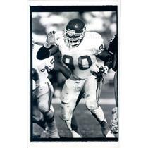 1990 Press Photo NFL Kansas City Chiefs Defensive Ends Neil Smith - snb9037