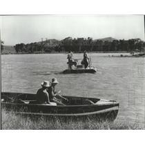 1973 Press Photo Boats setting out on Yellowstone river, Montana - spa93498