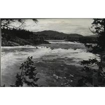 1941 Press Photo Kettle Falls on the Columbia River - spa94136