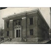 1908 Press Photo Spokane High school administration building nearing completion