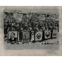 1948 Press Photo Young Yugoslav Girls Demonstration - RRX75563