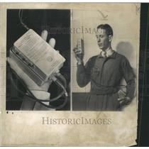 1950 Press Photo Miniature Radio Horrigan Air Force - RRW51155