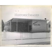 1954 Press Photo Lutheran Youth Building, Kalispell Montana - spa85252