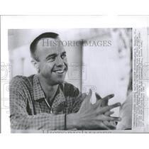 1961 Press Photo AlanShepard Jr American Spaceman Room