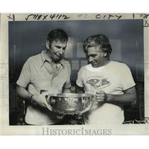 1977 Press Photo Tom Blackhaller & Ed Bennet, winners of Sailing Championship