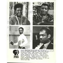 1986 Press Photo Black Champions in American Sports on PBS - nos03314