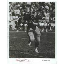 1984 Press Photo Atlanta Falcons William Andrews Running with Football