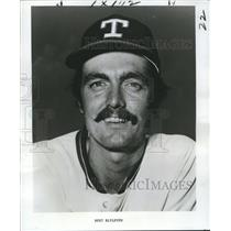 1977 Press Photo Texas Rangers Pitcher Bert Blyleven - nos04365
