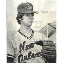 1977 Press Photo Baseball - New Orleans Pels pitcher, Earl Bass - nos04493