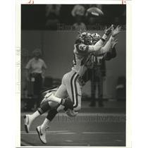 1985 Press Photo New Orleans Saints Football Player Johnnie Johnson at Game