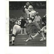 1985 Press Photo New Orleans Saints Football Player Dennis Winston at Game
