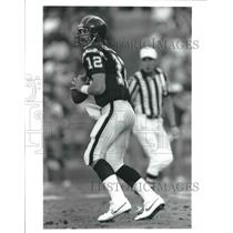 Press Photo San Diego Chargers quarterback Babe Laufenberg sets to throw