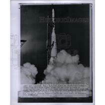 1961 Press Photo Thor Delta rocket blazer Explorer X - RRX57617